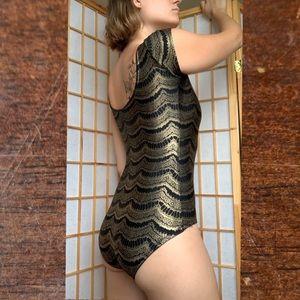 Blackmilk Black&Gold Bodysuit